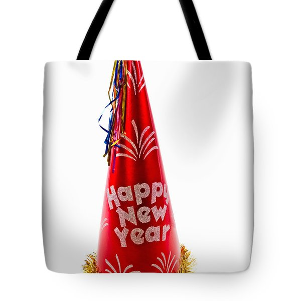 Happy New Year Party Hat Tote Bag
