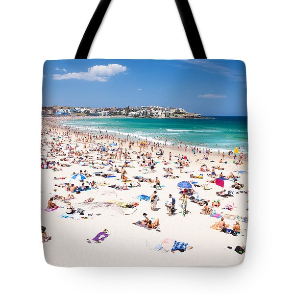 New Year's Day At Bondi Beach Sydney Australi Tote Bag by Matteo Colombo