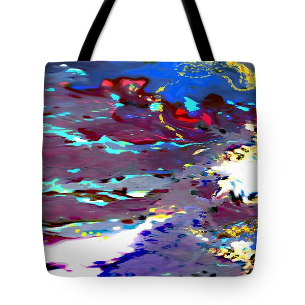 New Year's Day Rain On Snow Tote Bag by Mathilde Vhargon