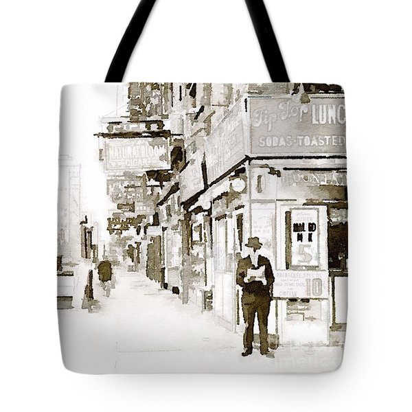 Tote Bag featuring the painting New York 1940 by Helge