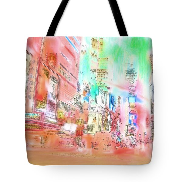 New York Abstract Tote Bag by Tom Gowanlock