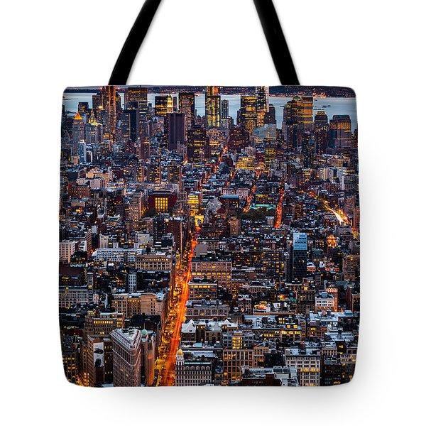 New York Aerial Cityscape Tote Bag by Mihai Andritoiu