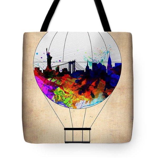 New York Air Balloon Tote Bag