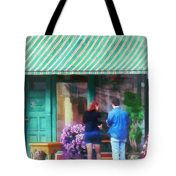 New York - Antique Shop Canandaigua Ny Tote Bag by Susan Savad