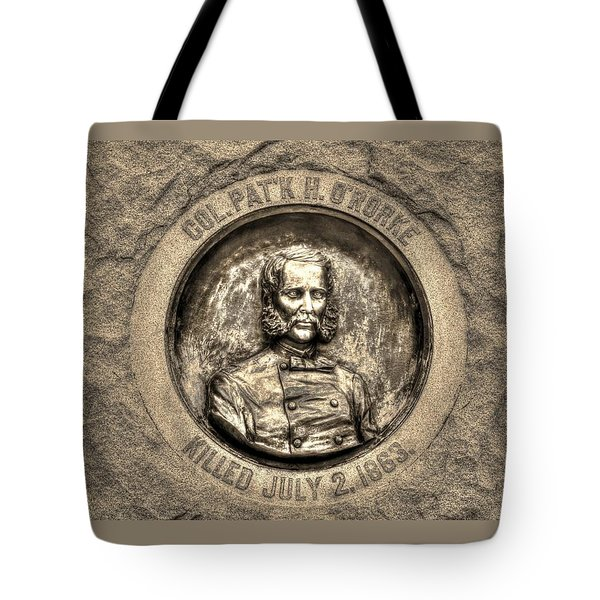 New York At Gettysburg - 140th Ny Volunteer Infantry Little Round Top Colonel Patrick O' Rorke Tote Bag by Michael Mazaika