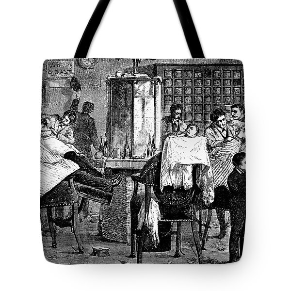 New York: Barbershop, 1882 Tote Bag by Granger