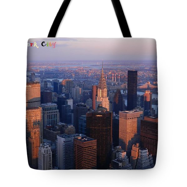 New York City At Dusk Tote Bag