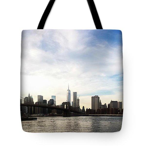 New York City Bridges Tote Bag by Nicklas Gustafsson