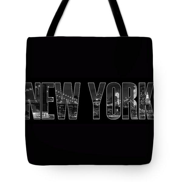 New York City Brooklyn Bridge Bw Tote Bag