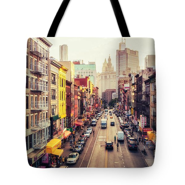New York City - Chinatown Street Tote Bag by Vivienne Gucwa