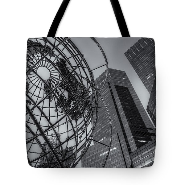 New York City Columbus Circle Landmarks II Tote Bag