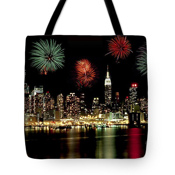 New York City Fourth Of July Tote Bag