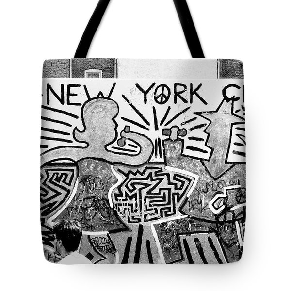New York City Graffiti Tote Bag