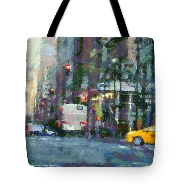 New York City Morning In The Street Tote Bag by Dan Sproul