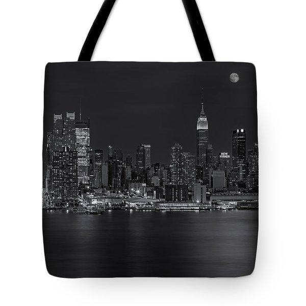 New York City Night Lights Tote Bag by Susan Candelario