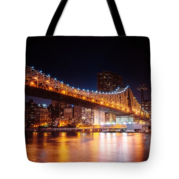 New York City - Night Lights Tote Bag by Vivienne Gucwa
