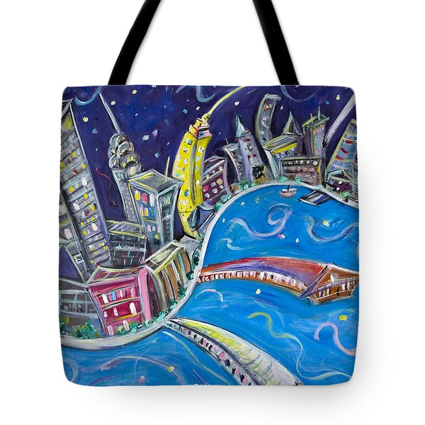 New York City Nights Tote Bag