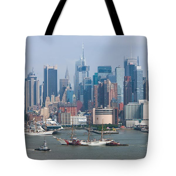 New York City Parade Of Sail I Tote Bag by Clarence Holmes