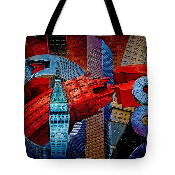 New York City Park Avenue Sculptures Reimagined Tote Bag