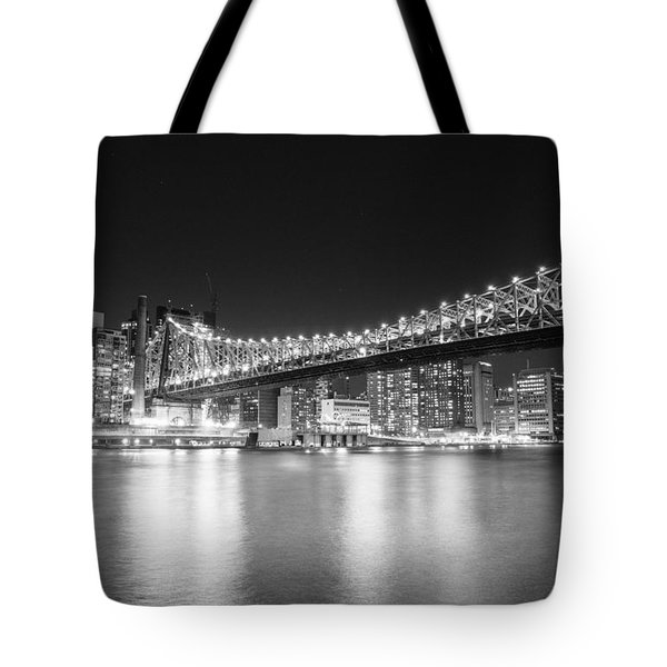 New York City - Queensboro Bridge At Night Tote Bag by Vivienne Gucwa