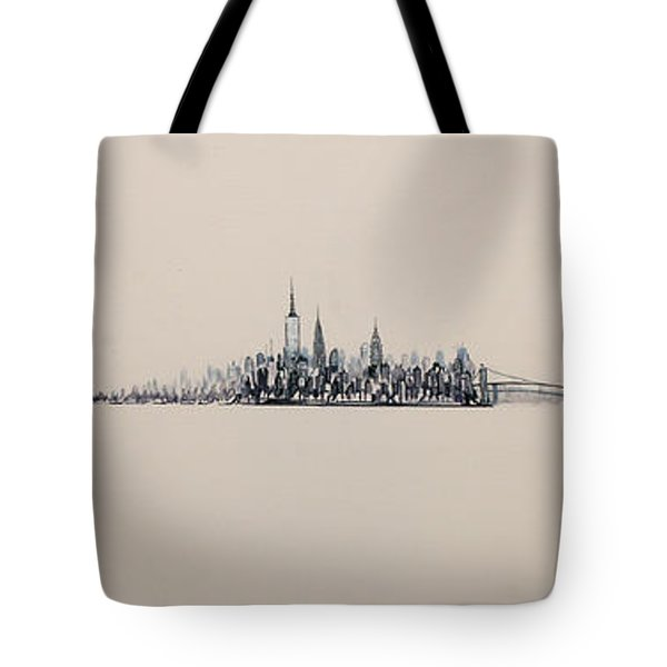 New York City Skyline 15x45 2013 Tote Bag