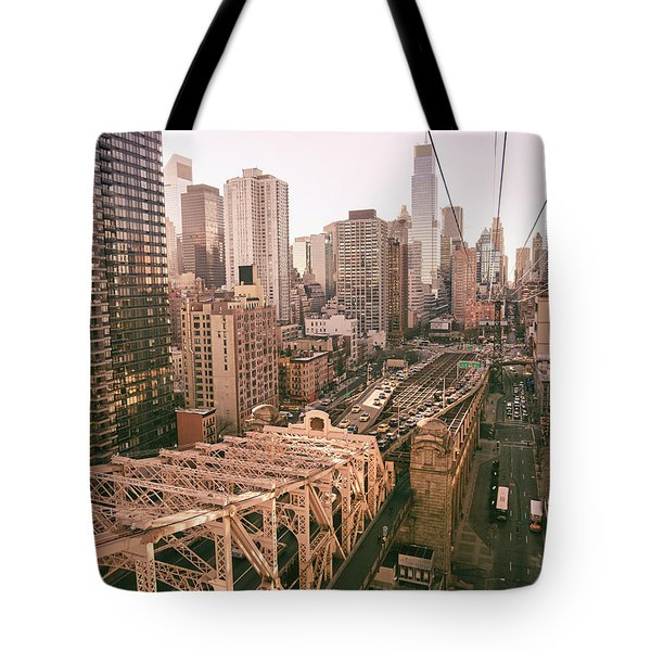 New York City Skyline - Above The City Tote Bag by Vivienne Gucwa