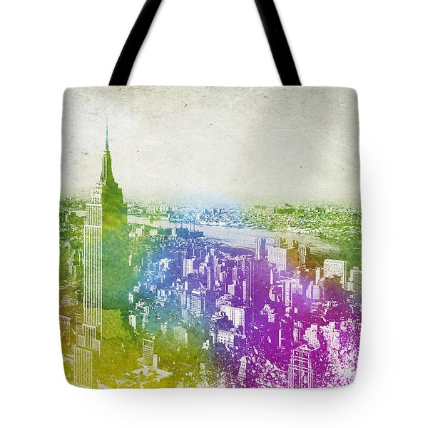 New York City Skyline Tote Bag by Aged Pixel