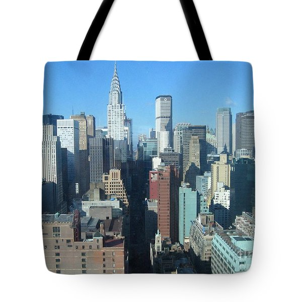 Tote Bag featuring the photograph New York City Skyline by Dora Sofia Caputo Photographic Art and Design