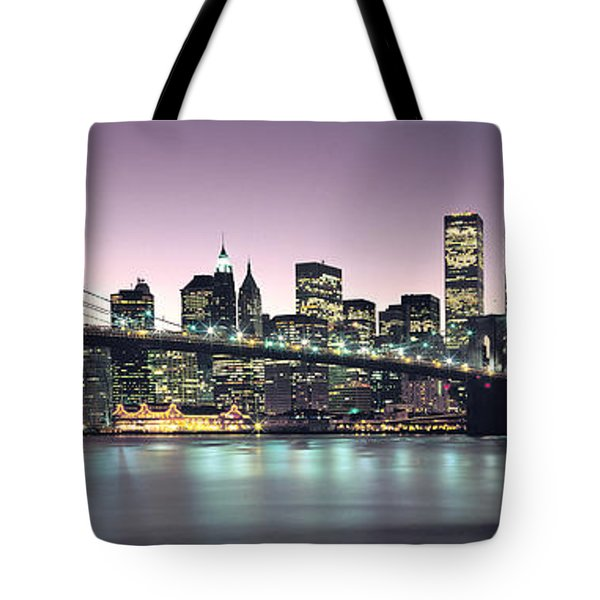 New York City Skyline Tote Bag by Jon Neidert