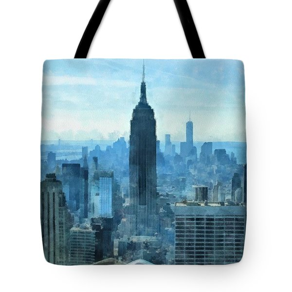 New York City Skyline Summer Day Tote Bag by Dan Sproul