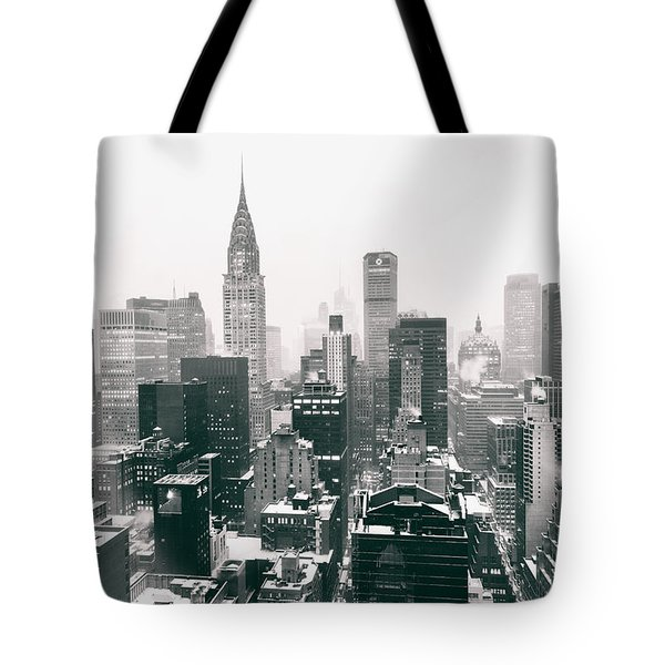 New York City - Snow-covered Skyline Tote Bag