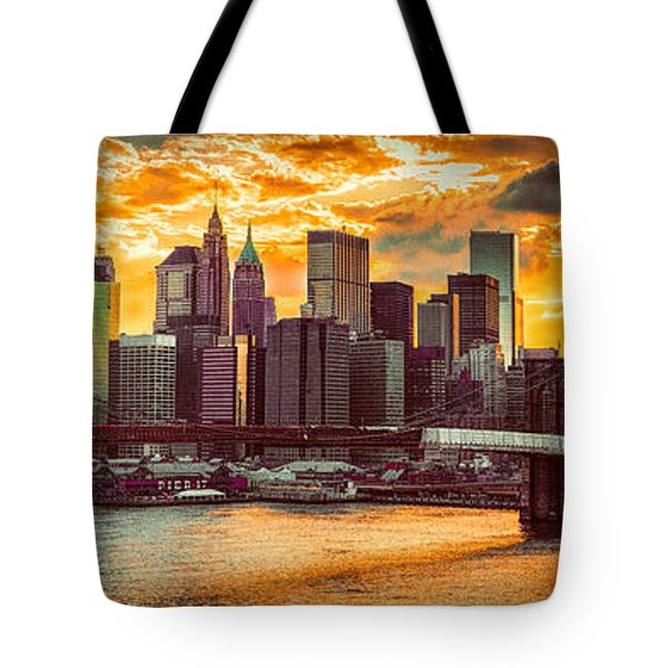 New York City Summer Panorama Tote Bag