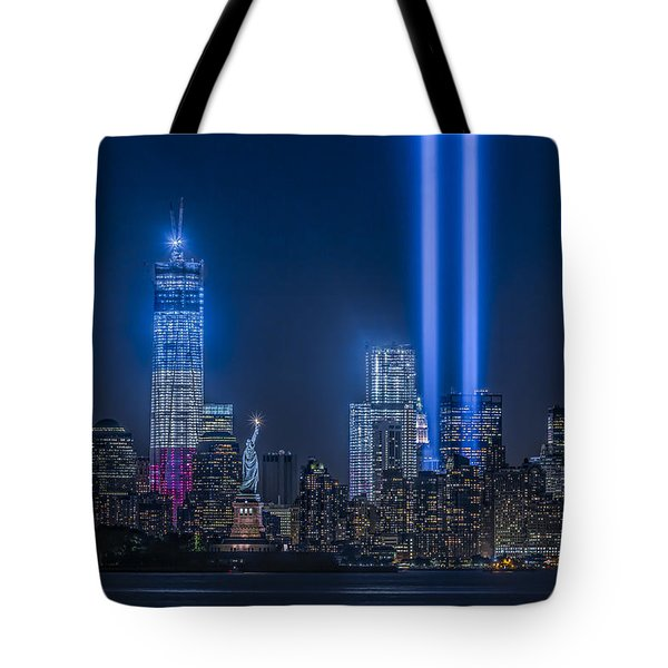 New York City Tribute In Lights Tote Bag