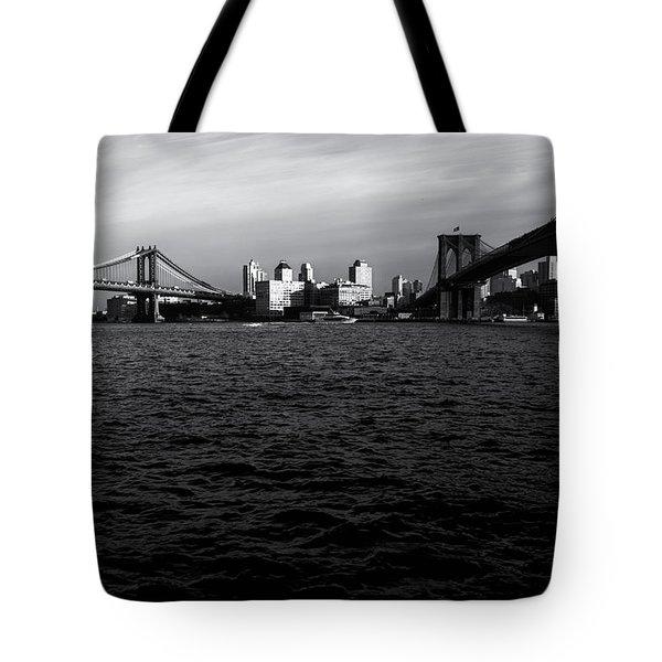 New York City - Two Bridges Tote Bag by Vivienne Gucwa