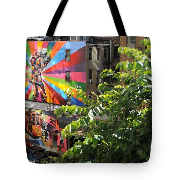Tote Bag featuring the photograph New York by Haleh Mahbod