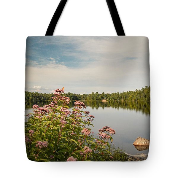 Tote Bag featuring the photograph New York Lake by Debbie Green