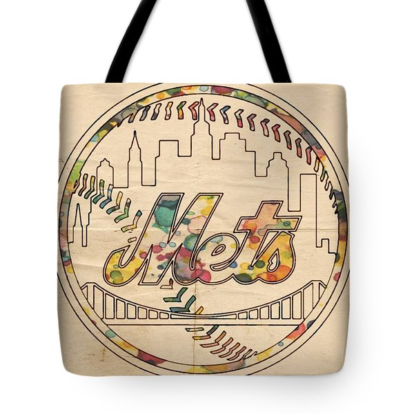 New York Mets Poster Vintage Tote Bag