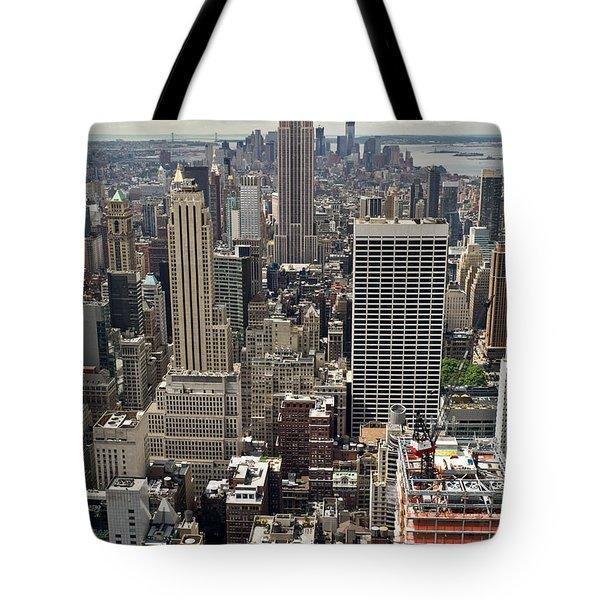 New York Midtown Skyscrapers Tote Bag