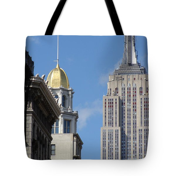 Tote Bag featuring the photograph New York New York by Ira Shander