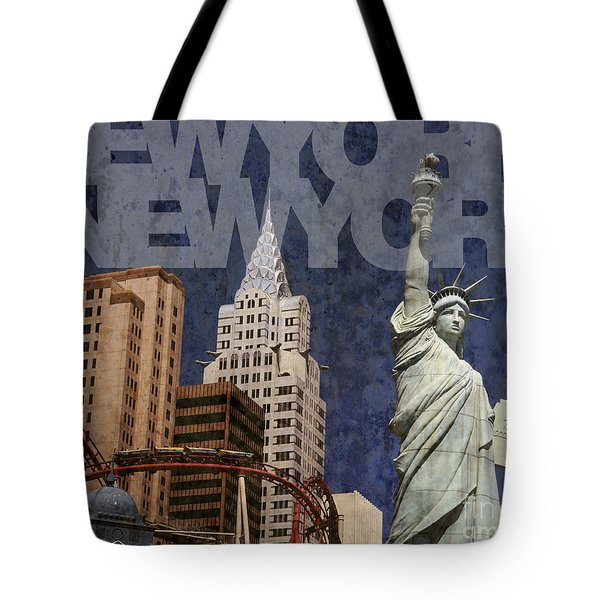 New York New York Las Vegas Tote Bag by Art Whitton