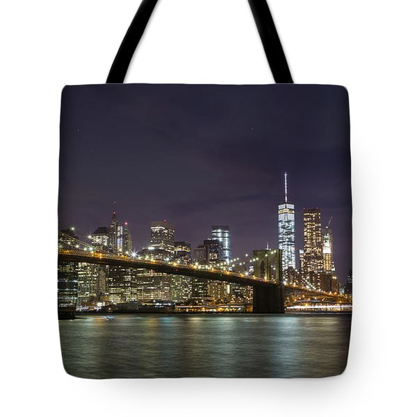 Tote Bag featuring the photograph New York Nights by Keith Kapple