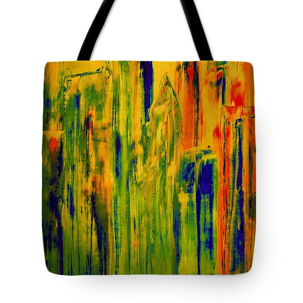 Tote Bag featuring the painting New York On A Hot June Morning by Bill OConnor