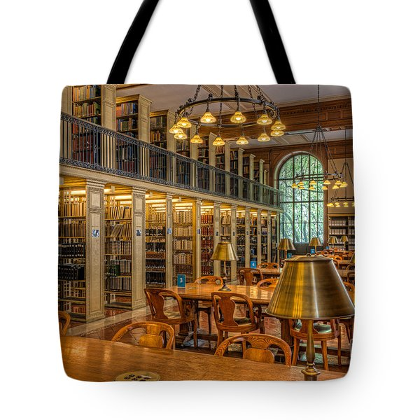 New York Public Library Genealogy Room I Tote Bag by Clarence Holmes