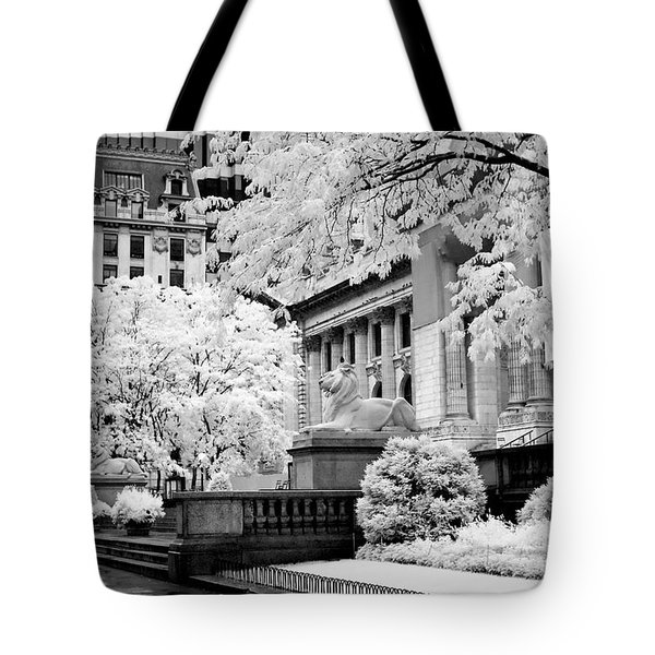 New York Public Library Ir Tote Bag