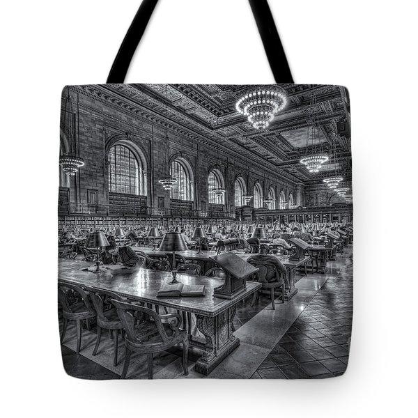 New York Public Library Main Reading Room V Tote Bag by Clarence Holmes