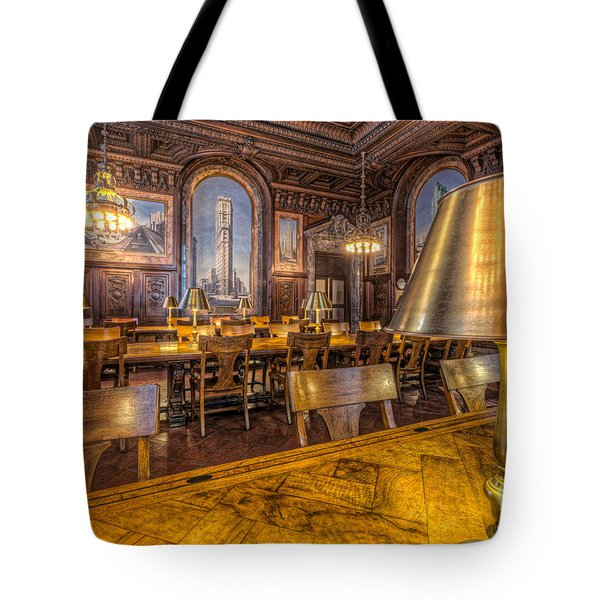 New York Public Library Periodicals Room IIi Tote Bag by Clarence Holmes