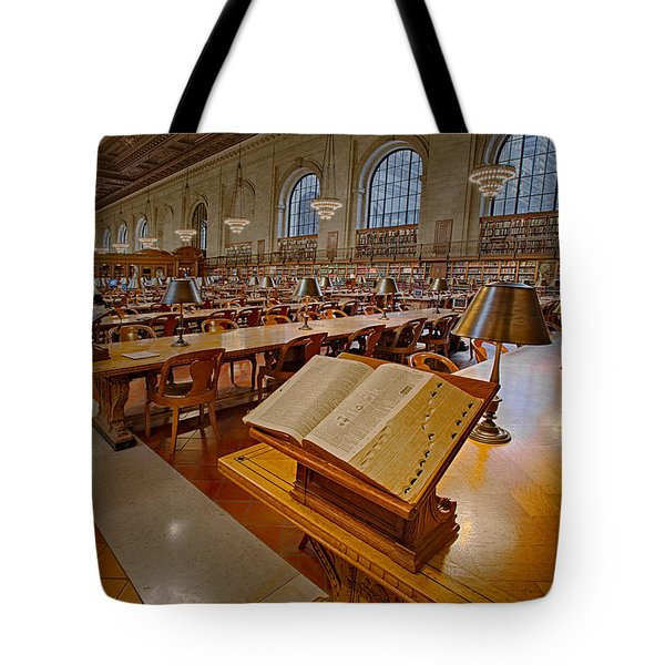 New York Public Library Rose Main Reading Room  Tote Bag by Susan Candelario