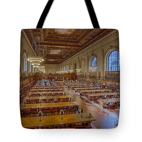 New York Public Library Rose Room  Tote Bag by Susan Candelario