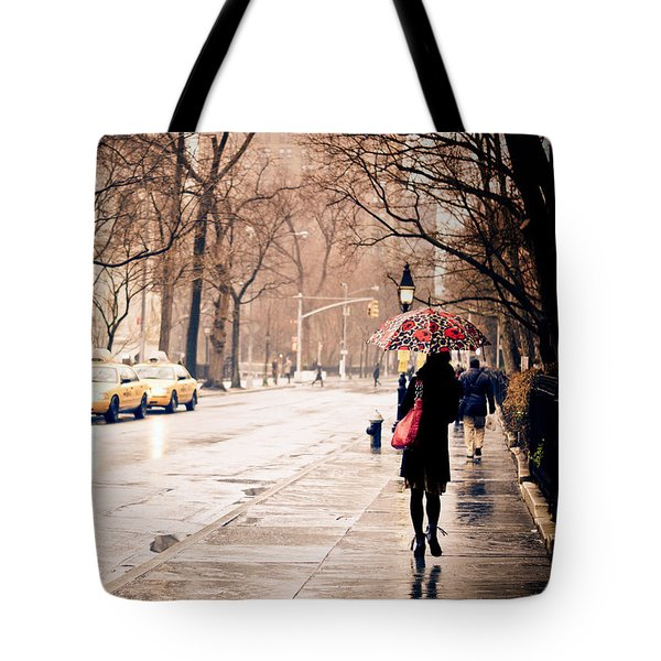 New York Rain - Greenwich Village Tote Bag by Vivienne Gucwa