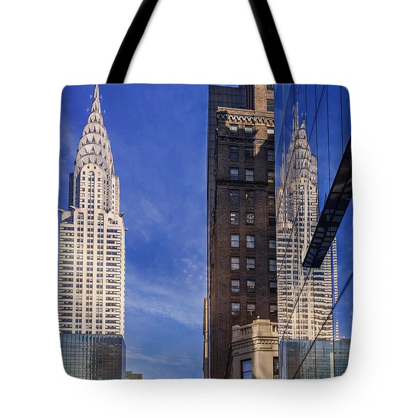 New York Reflections 20 Tote Bag by Angela A Stanton